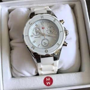 White Michele rubber watch